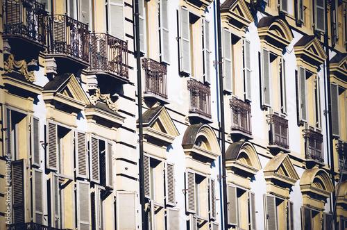 Fotobehang Oude gebouw external facade of a historic building