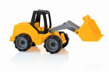 Yellow Excavator Isolated On W...