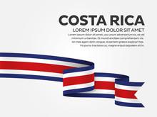 Costa Rica Flag Background