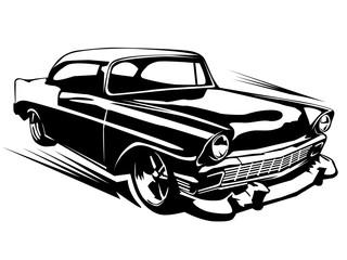 Muscule retro car