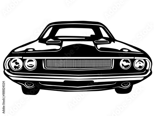 Muscle car retro top