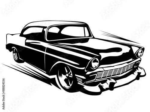 Fotografie, Obraz  Muscule retro car