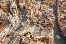 Aerial View Of Piazza Di Spagn...