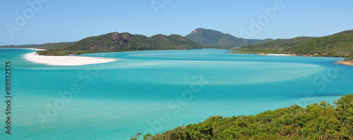 Whitehaven beach on the Great Barrier Reef in Australia Canvas Print