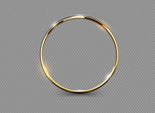 Abstract Luxury Golden Ring On...