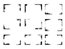 Set Of Grunge Frames, Background Overlays