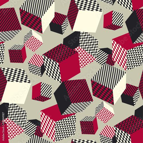 abstrakta-3d-geometryczny-bezszwowy-wzor-geometria-iluzji-objetosci-ksztaltuje-powtarzalny-motyw-w-barwach-retro-vintage-element-graficzny