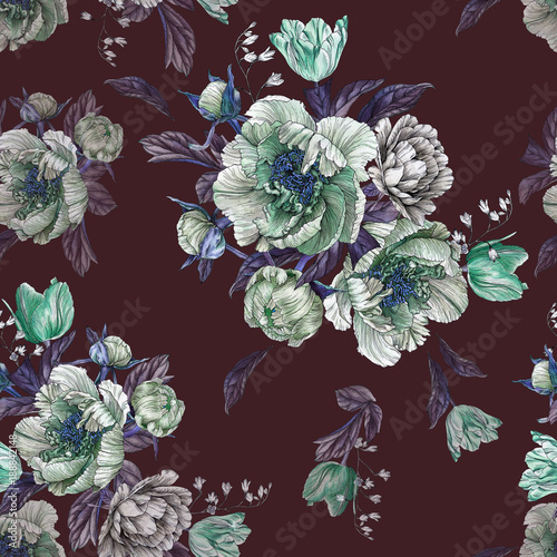 kwiatowy-wzor-z-akwarela-piwonie-i-tulipany