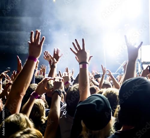 Concert Crowd at rock concert - 188847963