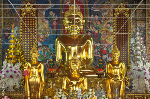Fototapeta  Beautiful of Buddha in Wat Ming Muang at Nan, Thailand.