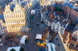 canvas print picture - Gent. Aerial view of the old city.