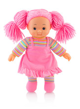 Pinky Plushie Doll Isolated On...