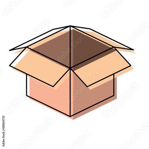 Tablou Canvas carton box icon