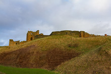 Hill And Ruins Of Medieval Tynemouth Priory And Castle, UK