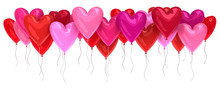 Bunch Of Red And Pink Balloons...