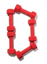 Five Red Dumbbells Shaped Like...