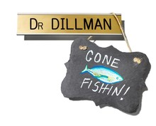Gone Fishin' Sign With Office ...