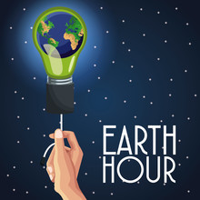 Earth Hour Design Icon Vector ...