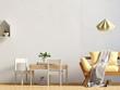 Pastel child's room. playroom. modern style. 3d illustration. Wall mock up