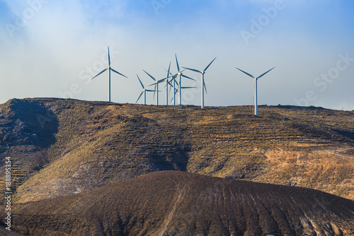 Foto op Aluminium Grijze traf. Incredible landscape on the island of lanzarote. Canary Islands. Spain