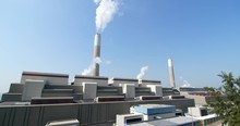 Coal Fired Power Station Shooting By Canon C200 Video Camera