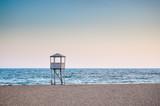 Baywatch tower, in an empty beach - 188899327