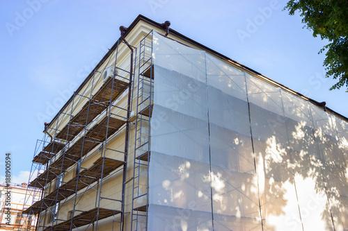 Fototapeta Building facade renovation obraz
