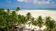 Aerial shot of deserted tropical beach