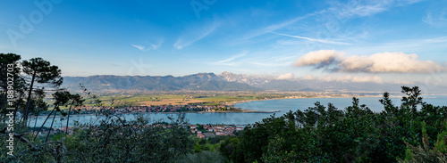 Deurstickers Liguria Versilia Coast and Apuan Alps - Italy