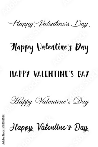 Happy Valentines Day Set Of Calligraphic Quotes Happy Valentine S