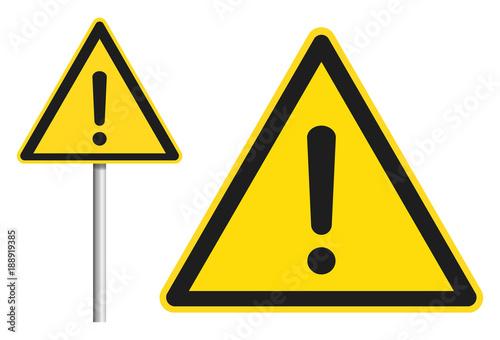 Fotografia  Schild Achtung / Warnung / Arbeitssicherheit