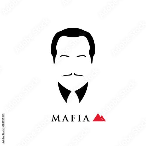 Fotografie, Obraz  The boss of the Italian mafia. Vector illustration.