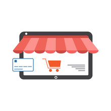 Online Shopping With Tablet Fl...