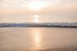 Beautiful sunset reflection on the sea water