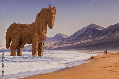 Fotografering  Trojanisches Pferd