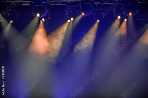 Canvas Print Stage spotlights