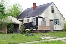 Abandoned Home In Flint, Michigan.
