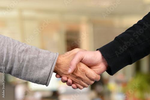 La poignée de main Tablou Canvas