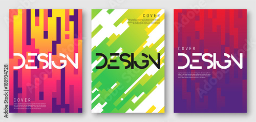 Photo  Abstract gradient geometric cover designs, brochure templates, posters