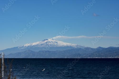Vászonkép  Landscape of ETNA MOUNT WITH SNOW