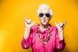 Leinwanddruck Bild - Grandmother portrait set in the studio. Concepts about seniority