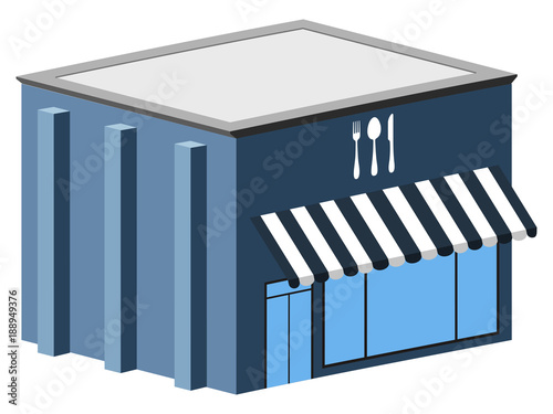 Photo  Isolated restaurant building
