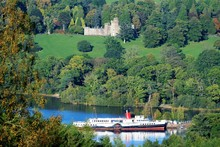 Steamer And Castle On Loch Lomand