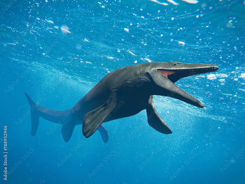 Mosasaurus, huge ocean lizard, extinct Mosasaur between 70 and 66 million years ago