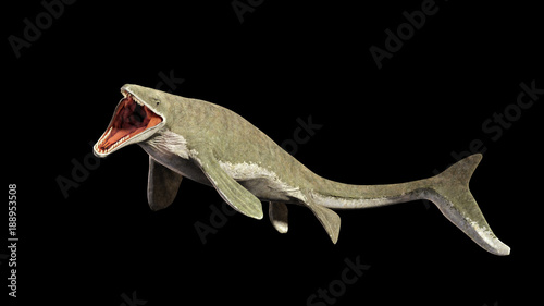 Photo  Liopleurodon, extinct giant aquatic lizard