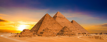 Great Pyramids Of Giza, Egypt,...