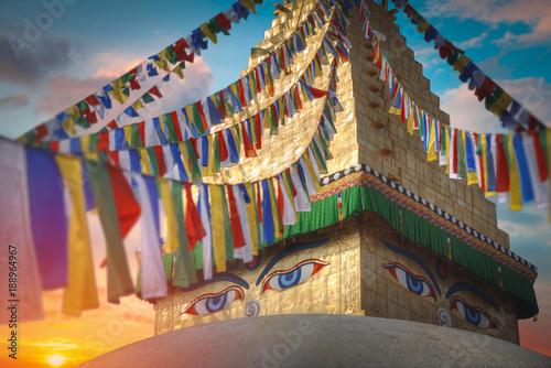Bodhnath stupa Fototapet