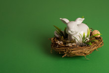 Easter Nest With A Porcelan Bu...