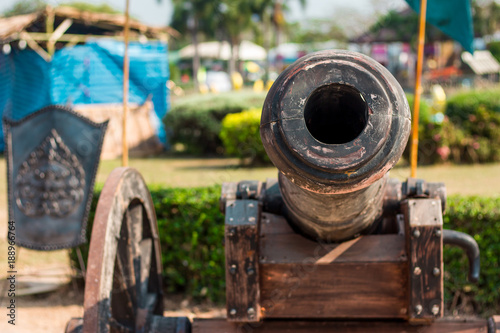 Staande foto Kinderkamer Thai Ancient artillery in Kanchanaburi Thailand.