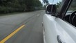 POV of old classic car driving on highway in Cuba